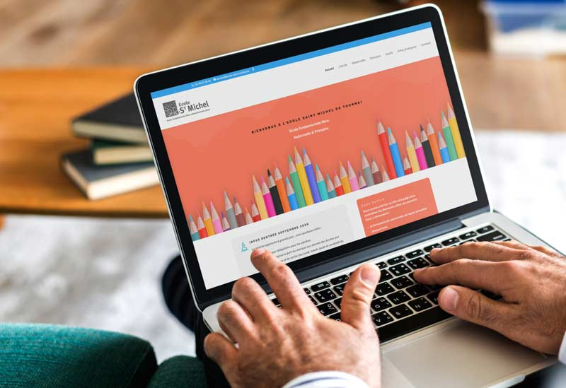 Site Internet de l'école St Michel de Tournai