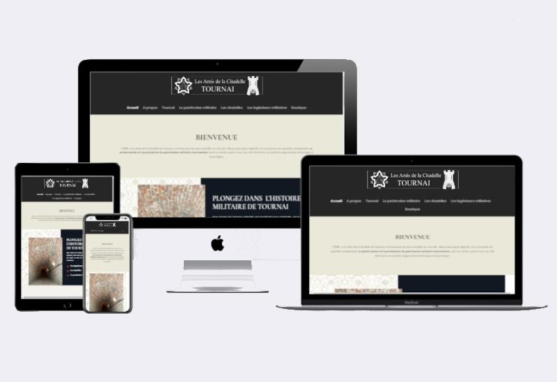 site internet de l'ASBL les amis de la citadelle de Tournai